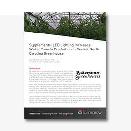 LumiGrow Tomato Research